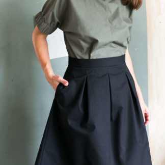 Papierschnittmuster Three Pleat Skirt The Assembly Line Stofftraeume4you
