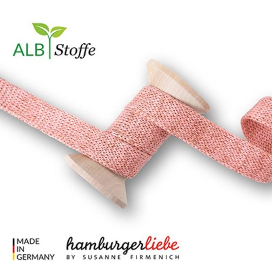 Cord me Nude with copper A81K 2cm wide hoodie cord Hamburger Liebe WHITESTOFFE Stoffträume4you Knitting cord organic cord