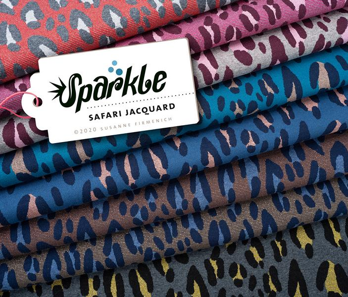 Jacquard SAFARI Sparkle Hamburger Liebe Albstoffe Stofftraeume4you