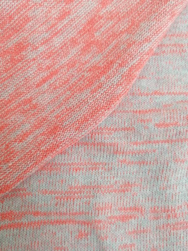 Knitstoff mottled orange gray Stofftraeume4you close with the back