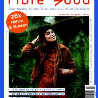Fibre Mood Magazin Heft 7 Stofftraeume4you Cover mit Frida Jacke