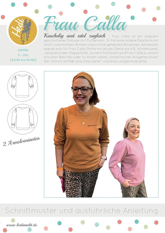 Sewing pattern sweater Ms. Calla Hedineaht Stoffträume4you