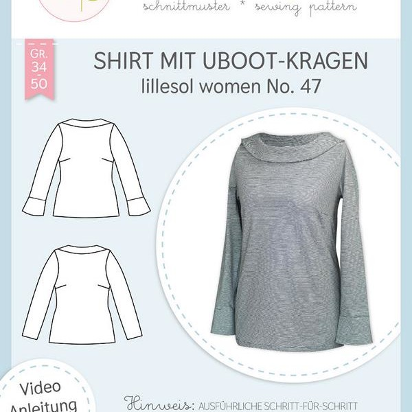 Schnittmuster UBoot-Kragen lillesol women No.47 Stofftraeume4you