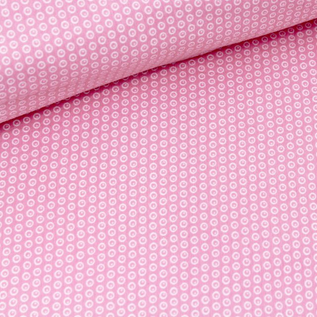 Organic jersey Kuller Strawberry ice cream pink Stofftraeume4you Stoffuncle small circles with dots