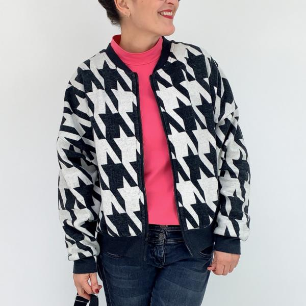 Organic cuddly jacquard Giant Houndstooth Stofftraeume4you Naehbeispiel2 anlukaa