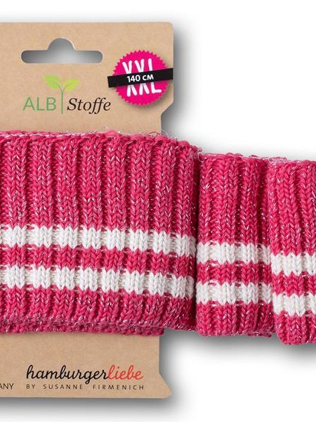 Cuff Me Sparkle Cozy stripes 25 Stofftraeume4you Hamburger Liebe Albstoffe