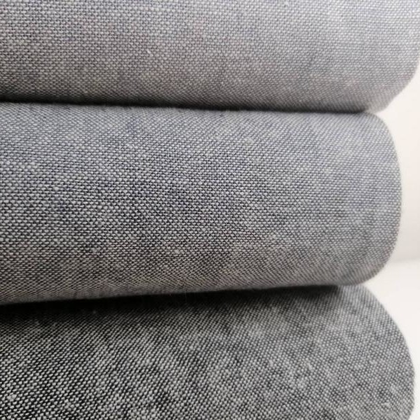 Essex Yarn Dyed Linen Graphite Robert Kaufman Stofftraeume4you position