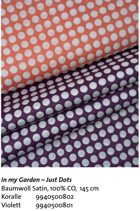 In My Garden Just Dots Baumwoll Satin 145cm Hamburger Liebe Stofftraeume4you Hemmers Itex