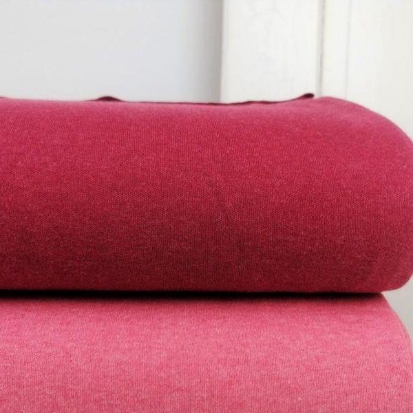 Organic Cotton Interlock Jersey Stofftraeume4you Bio-Stoffe Berry meliert