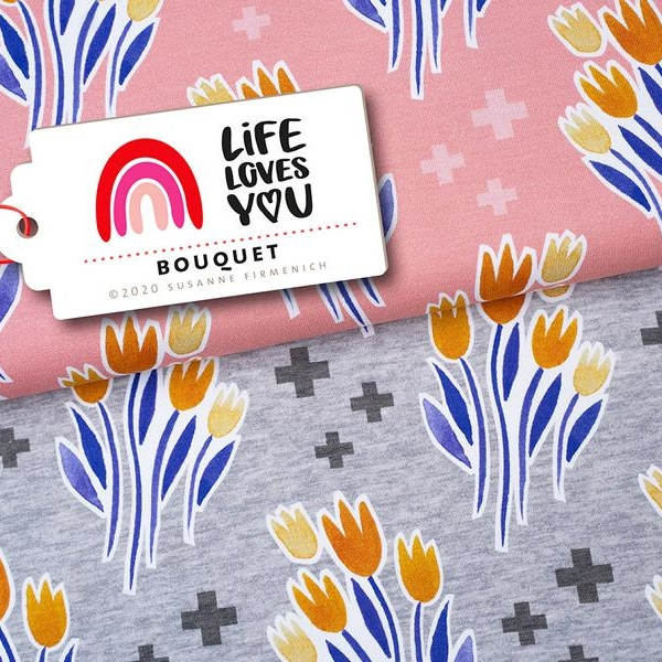 Bouquet Life loves You Flower Hamburger Liebe Stofftraeume4you Albstoffe