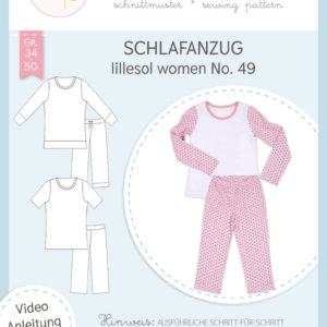 Schnittmuster Paper Schlafanzug No.49 women Lillesol Pelle Stofftraeume4you