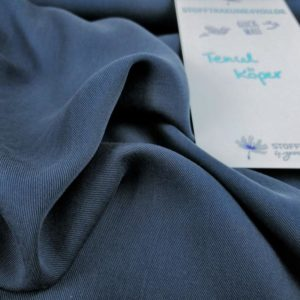Tencel twill Navy Blue Stofftraeume4you Cpauli Lyocell close open