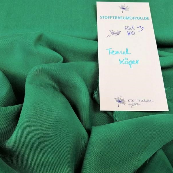 Tencel twill Quetzal Green Tannengruen Stofftraeume4you Cpauli flat close Lyocell
