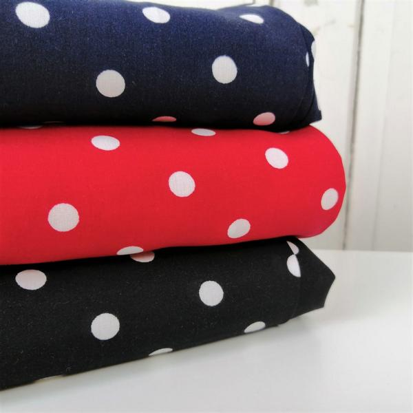 Viscose AUDREY dots red Stofftraeume4you