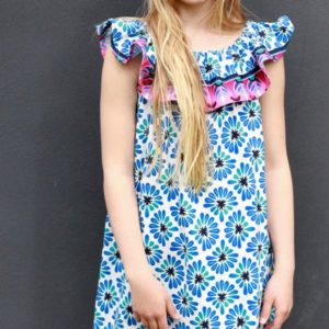 Tencel jersey all over BLOOM Hamburger Liebe WHITESTOFFE Stofftraeume4you Livii dress
