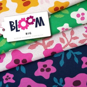 BIG Jacquard BLOOM Hamburger Liebe Albstoffe Stofftraeume4you