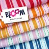 PIN STRIPES Jacquard BLOOM Hamburger Liebe Albstoffe Stofftraeume4you