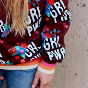 Girl Power GRL PWR BLOOM Hamburger Liebe WHITESTOFFE Stofftraeume4you Livii Sweater