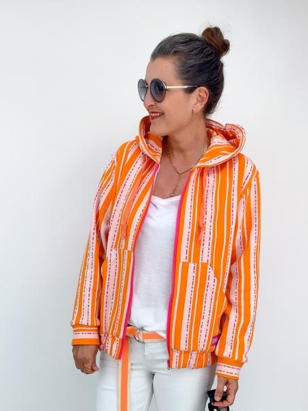 Pin Stripes BLOOM Hamburger Liebe ALBSTOFFE Sweater Anlukaa Stofftraeume4you