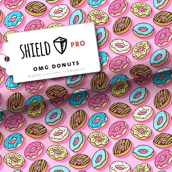 Shield PRO Donuts Stofftraeume4you Hamburger Liebe Albstoffe
