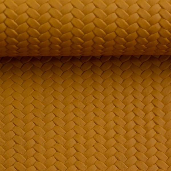 Artificial leather pinto ocher swafing detail Stofftraeume4you