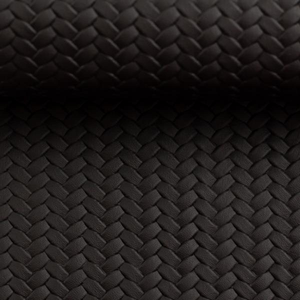 Artificial leather Pinto Black 081092-000299 Swafing Stofftraeume4you detail rolled