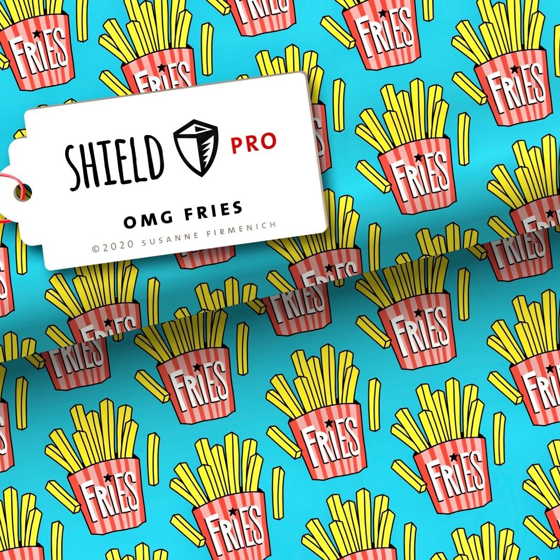 Shield OMG Fries Albstoffe Stofftraeume4you Hamburger Liebe