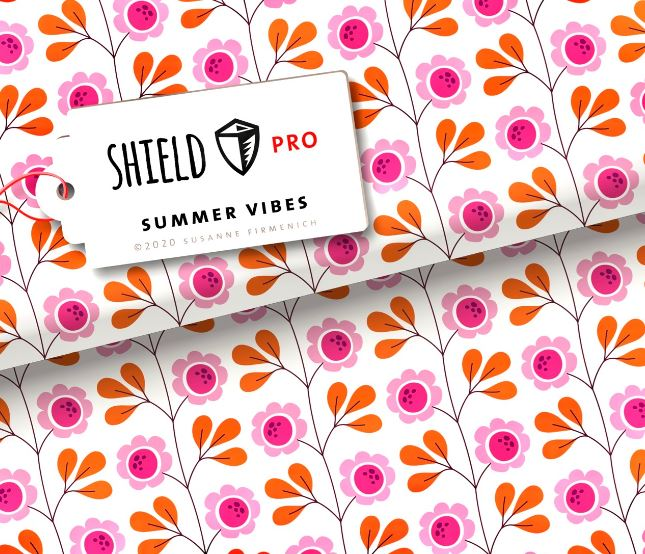 Shield Pro Trevira Summer Vibes Weiss ALBSTOFFE Stofftraeume4you
