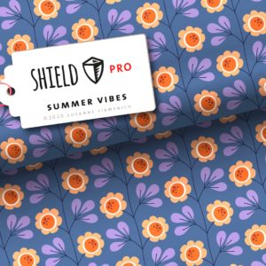 Shield Pro Trevira Summer Vibes Blau ALBSTOFFE Stofftraeume4you