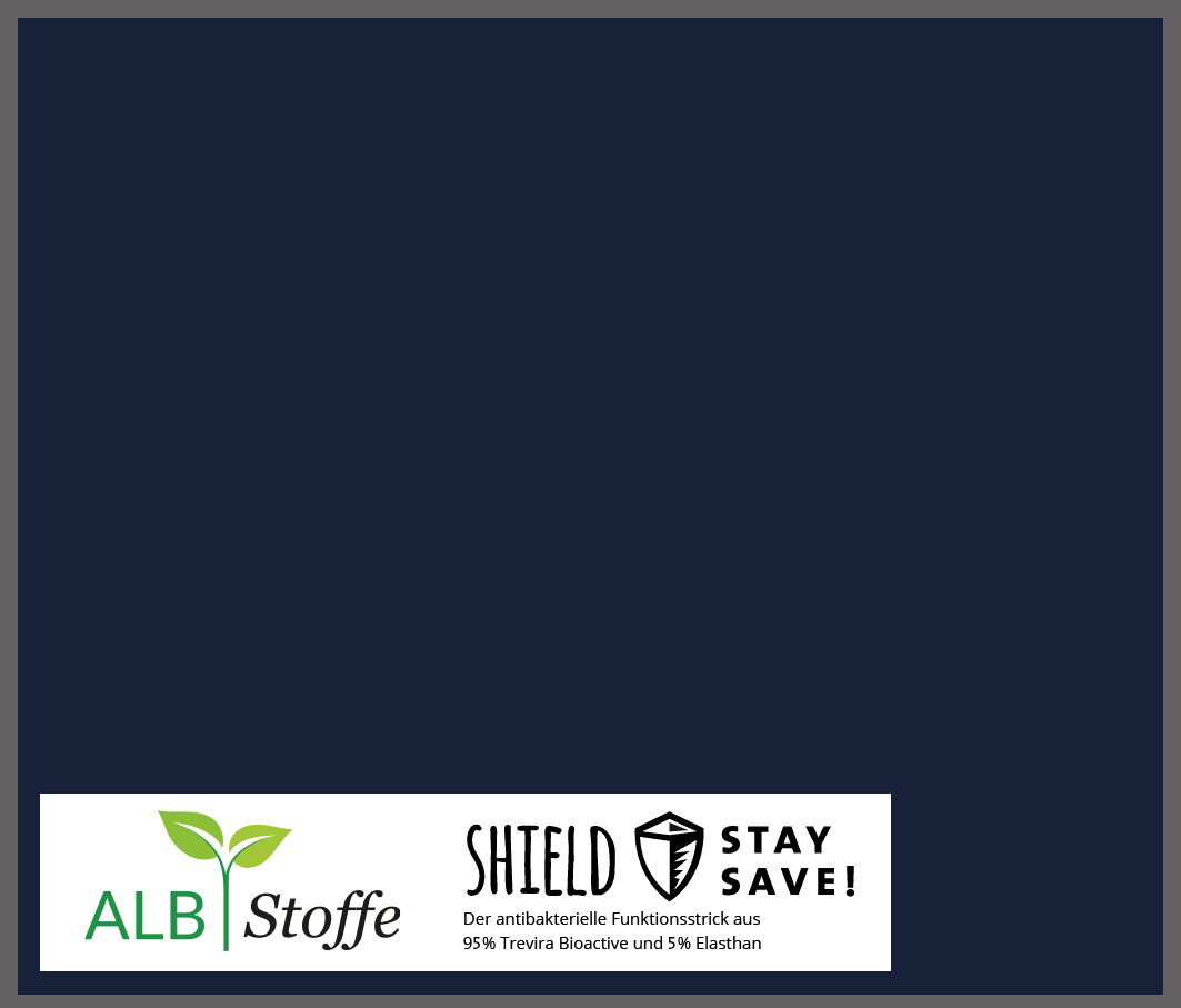Shield Uni Blue Navy Albstoffe Stofftraeume4you