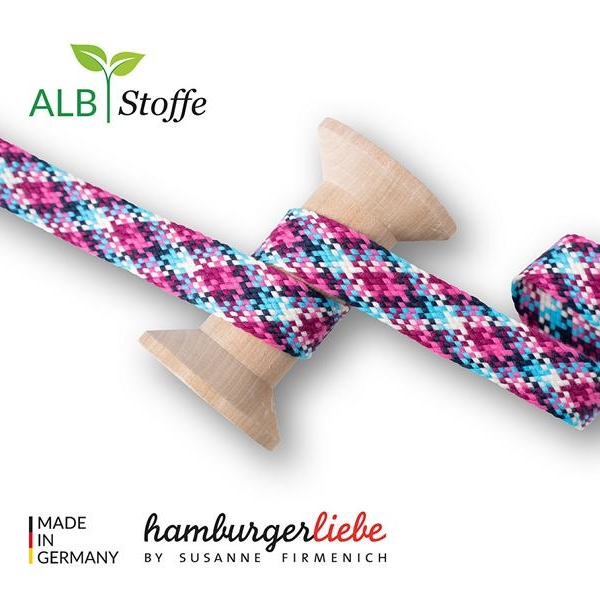 Twist Me Check Col.1 Hamburger Liebe Albstoffe Stofftraeume4you