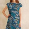 Viskose Blue Bank Flora Mister Domestic Art Gallery Fabric AGF Stofftraeume4you Kleid