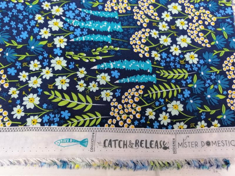 Viskose Blue Bank Flora Catch and Release Mister Domestic Art Gallery Fabrics Stofftraeume4you