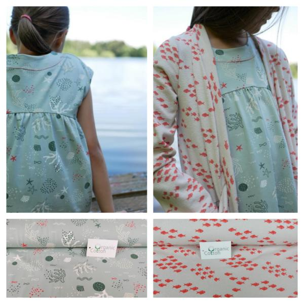 PALE OCEAN Organic Cotton Stofftraeume4you Slider