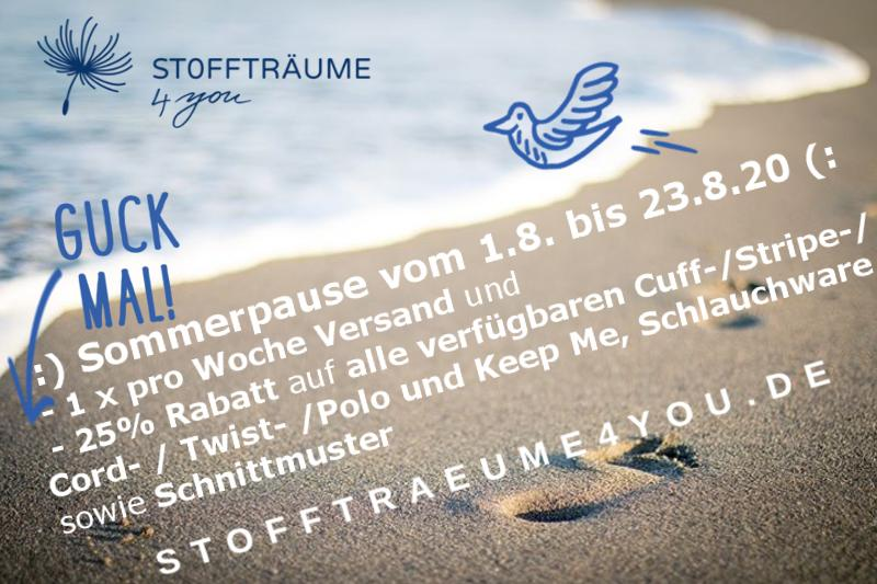 Sommerpause 2020 Guck Mal Stofftraeume4you