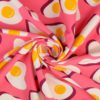 In my Kitchen Sunny Side Up Hamburger Liebe Stofftraeume4you Pink gedreht French Terry
