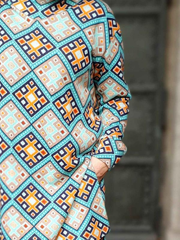 MAGIC CARPET Turquoise Curry Orient Oxident Hamburger Liebe WHITESTOFFE Stofftraeume4you snail farm sewing sample cardigan details new