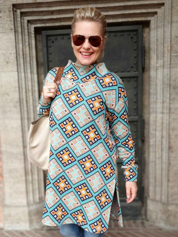 MAGIC CARPET Turquoise Curry Orient Oxident Hamburger Liebe WHITESTOFFE Stofftraeume4you snail farm sewing example Cardigan Frontalneu