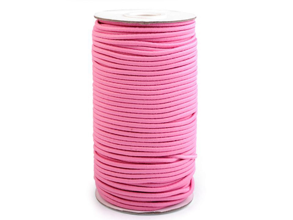 Gummikordel rund 3mm Rosa Stofftraeume4you