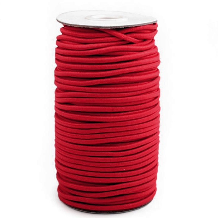 Elastic cord round 3mm red Stofftraeume4you