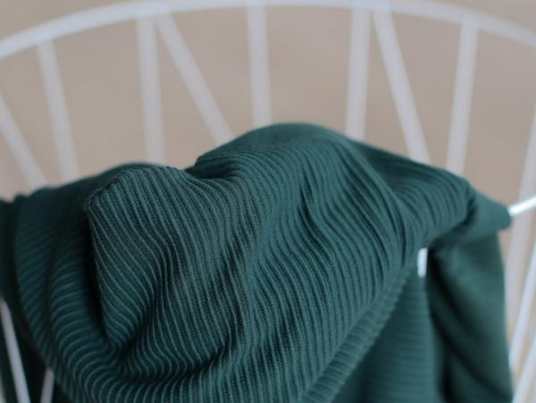 Ottoman knit self striped deep green meet milk Stofftraeume4you
