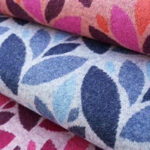 Organic jacquard blue Get Cozy Sweet Home Hamburger Liebe Albstoffe Stofftraeume4you