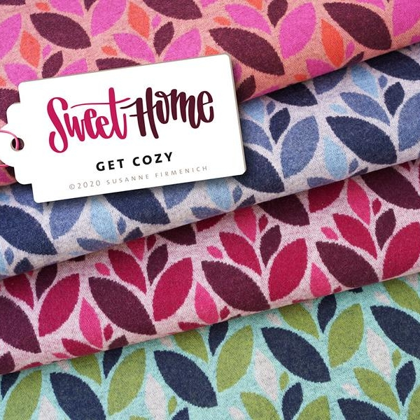 Organic jacquard GET COZY Wooltouch Sweet Home Hamburger Liebe Albstoffe Stofftrauem4you
