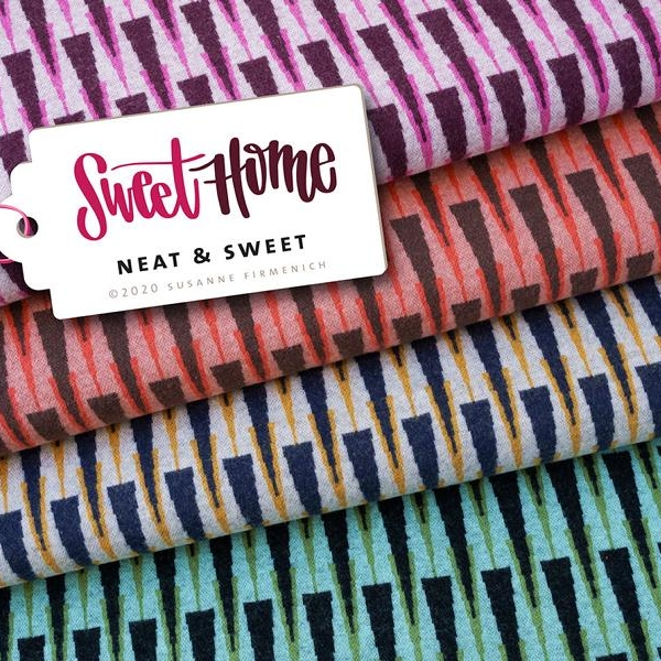Organic jacquard NEAT SWEET Wooltouch Sweet Home Hamburger Liebe Albstoffe Stofftrauem4you
