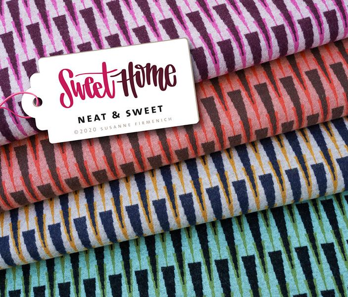 Bio-Jacquard NEAT SWEET Wooltouch Sweet Home Hamburger Liebe Albstoffe Stofftrauem4you