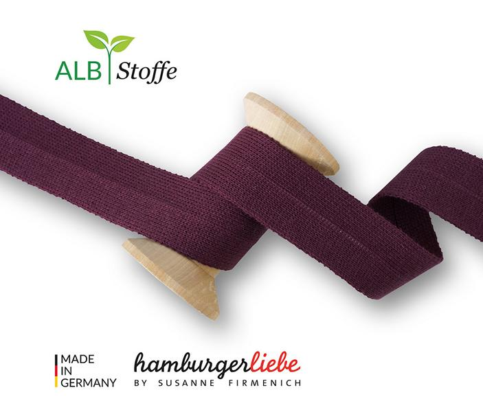 Edge Me Sweet Home Hamburger Liebe Albstoffe Stoffetraueme4you A18 Bordeaux