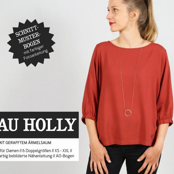 Frau HOLLY weite Bluse Schnittmuster Papier Studio Schnittreif Stofftraeume4you Cover