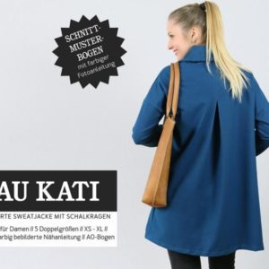 Frau Kati sweat jacket sewing pattern paper studio ready for cutting Stofftraeume4you cover