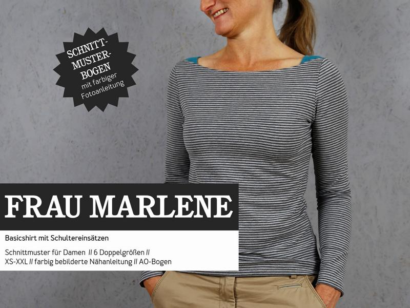 Mrs. MARLENE shirt sewing pattern paper studio ready to cut Stofftraeume4you cover