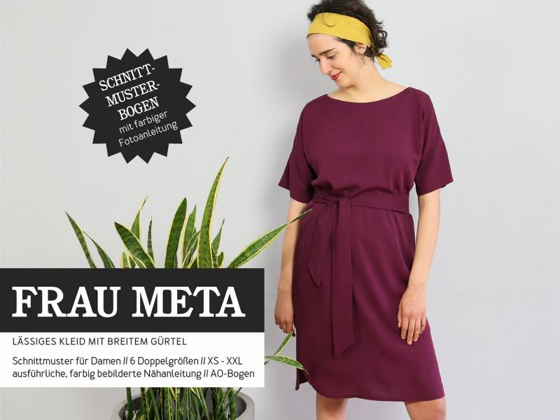 Ms. META casual dress sewing pattern paper studio ready to cut Stofftraeume4you cover